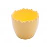 Cache-pot céramique Oeuf d12 h10.5 cm Jaune
