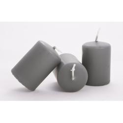 Bougie Cylindre D40 x H60 mm Gris Anthracite Par 24