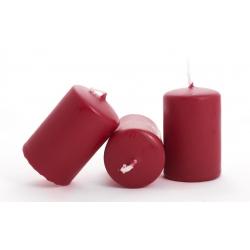 Bougie Cylindre 60/40 par 24 Rouge Foncé