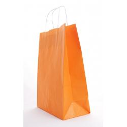 Sac Kraft Mandarine a. torsadées 25x11x31cm par 50