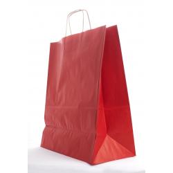 SAC KRAFT - Rouge a/torsadées 35x16x40 cm - 50 sacs