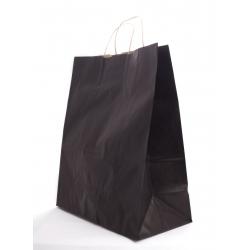 Sac Kraft Noir a. torsadées 35x16x40cm par 50