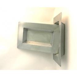 Coupe Rect. Zinc Naturel 20x10.5 h4 cm par 6