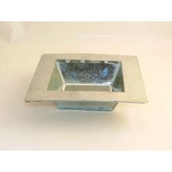 Coupe Carrée Zinc Naturel 13x13 h5 cm par 12