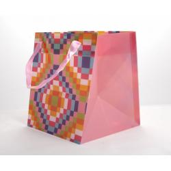 Sac Cubi Rose 14,5 x14,5x14,5 par 10