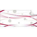 Cello Fantaisie 80cm x 120m CLAP rouge/blanc