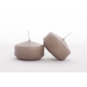 Bougie Flottante D5 Taupe x 8