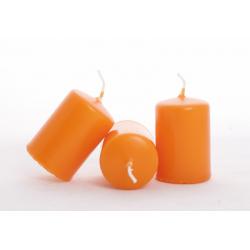 Bougie Cylindre d40 x h60mm par 24 Mandarine