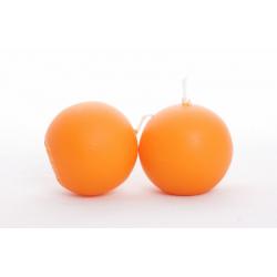 Bougie Boule D.60 mm par 12 Mandarine