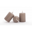 Bougie Cylindre 60/40 par 24 Taupe