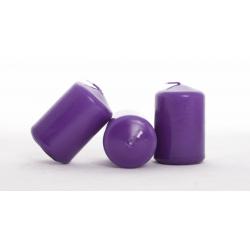Bougie Cylindre d40 x h60 mm Violet par 20