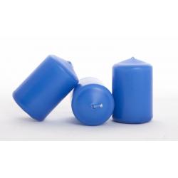 Bougie Cylindre d40 x h60 mm Indigo par 20