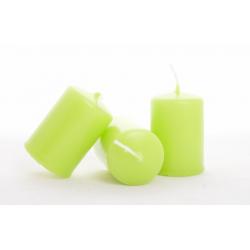 Bougie Cylindre d40 x h60 mm Vert Citron par 24