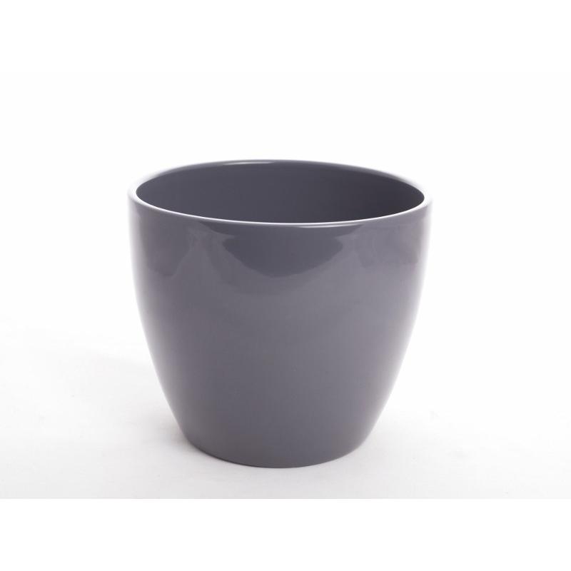 Pot d17.5 h15 cm Gris par 4
