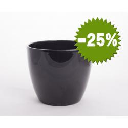 Pot d19.5 h17 cm Noir par 4