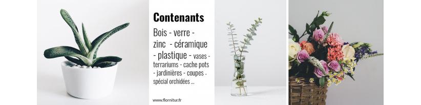 Contenants en bois, cache-pots, jardinières, coupes pour Fleuristes