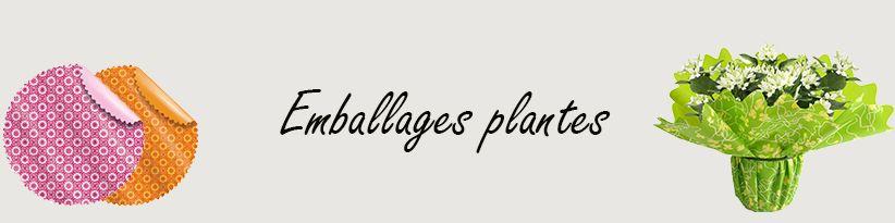 Emballages Plantes - Manchettes et Collerettes pour Fleuristes