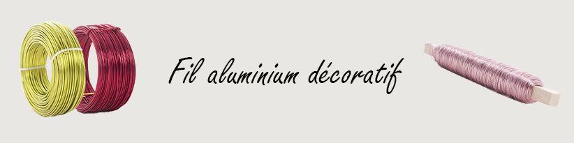 Fil Aluminium décoratif pour Fleuristes et Art floral Professionnel