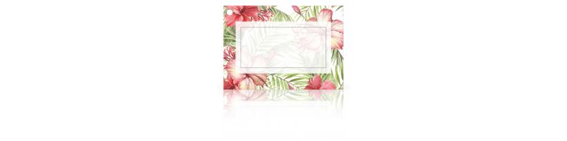 Cartes à accrocher sur un cadeau ou une composition florale