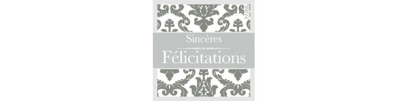 Étiquettes autocollantes, pour cadeaux et compositions florales