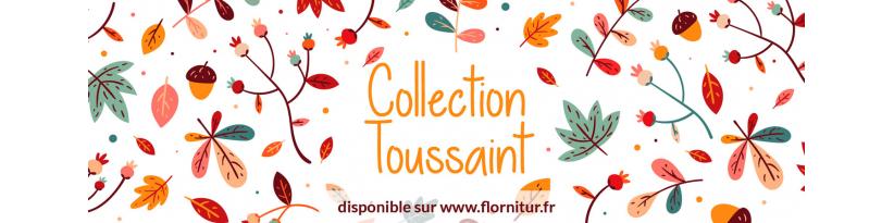 Collection Toussaint - Assortiment d'emballages et fleurs artificielles