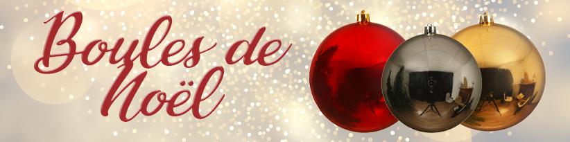 Boules de Noël, boules décoratives pour vitrine professionnelle